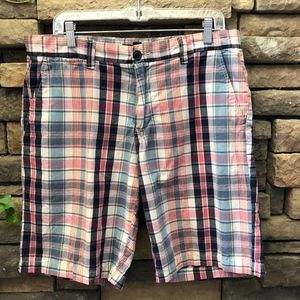 Tommy Hilfiger Men's Madras Plaid Shorts